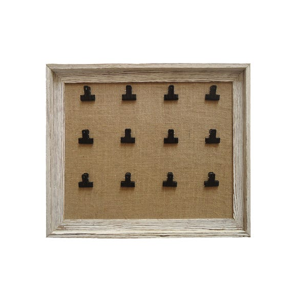 Wooden Bulldog Clip Memo Board Natural