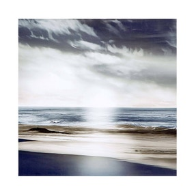 Grey Simplicity Waves Canvas