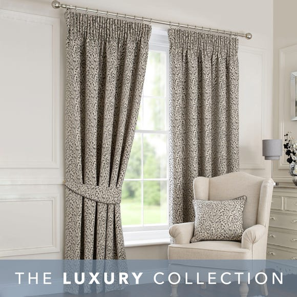 Willow Grey Pencil Pleat Curtains Grey undefined