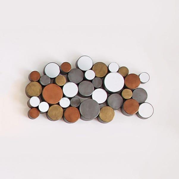 Tribal Circles Mirrored Wall Art Brown