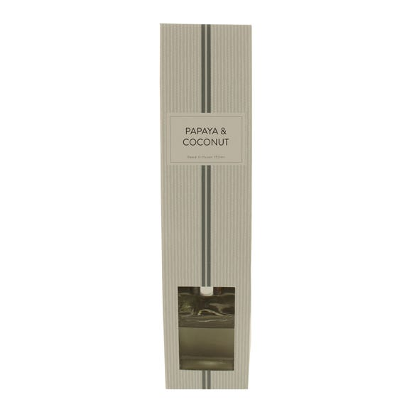 Papaya and Coconut 150ml Reed Diffuser Clear
