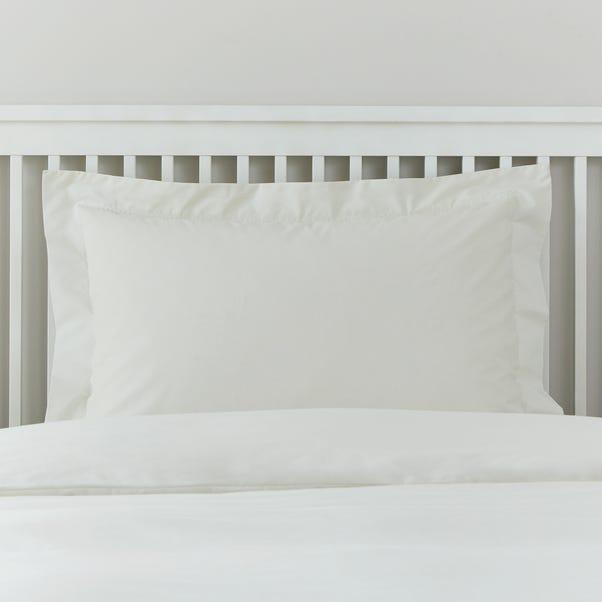 Easycare 100% Cotton Ivory Oxford Pillowcase