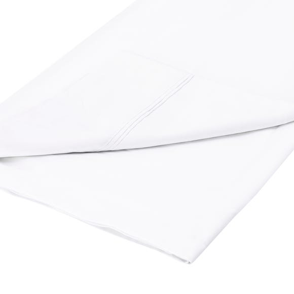 Cotton Rich Sateen Flat Sheet White undefined