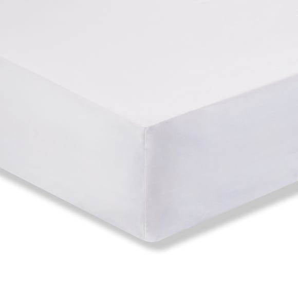 Cotton Rich Sateen Fitted Sheet White undefined