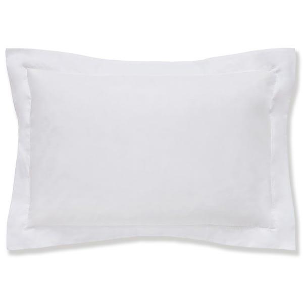 Cotton Rich Sateen White Oxford Pillowcase White
