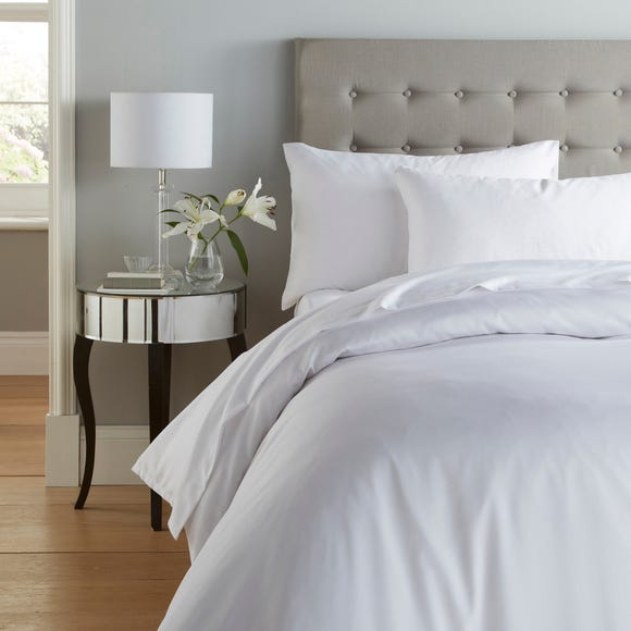 Cotton Rich Sateen White Duvet Cover White undefined