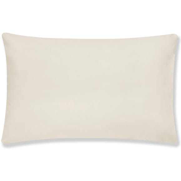Cotton Rich Sateen Housewife Pillowcase Pair Cream
