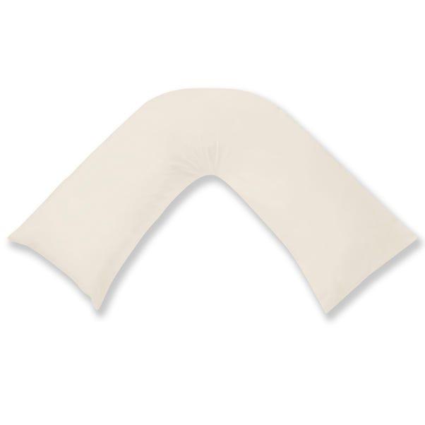 Cotton Rich Sateen V-Shaped Pillowcase Cream