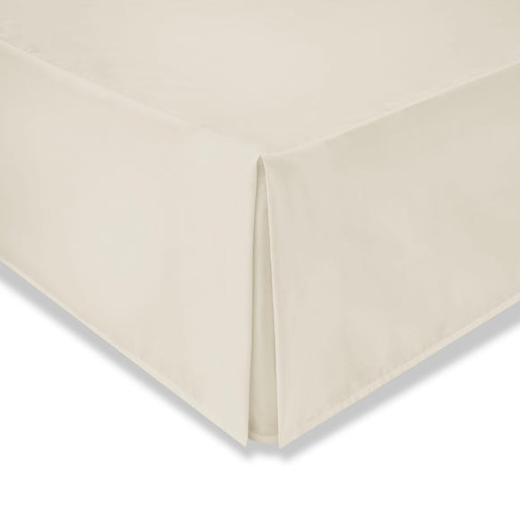 Cotton Rich Sateen Cream Divan Valance Cream undefined
