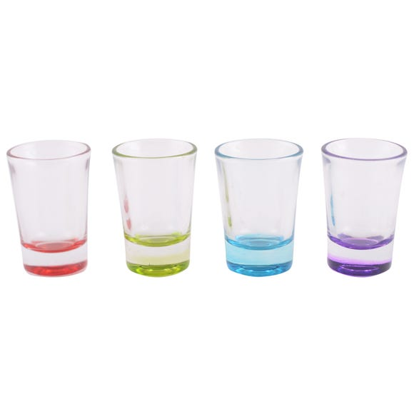 Set of 4 Shot Glasses MultiColoured
