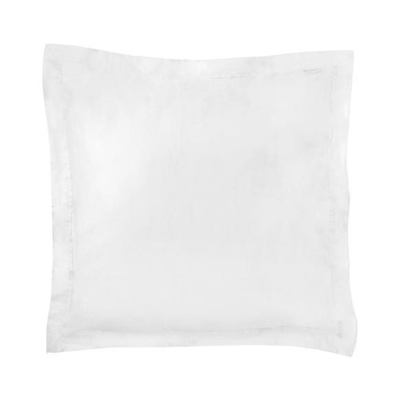 Dorma 500 Thread Count 100% Cotton Satin Plain White Continental Square Pillowcase White