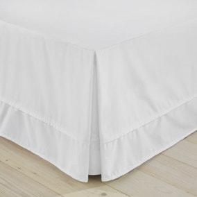Dorma 500 Thread Count 100% Cotton Satin Plain White Valance