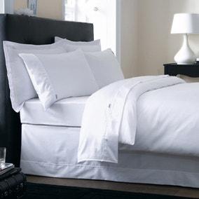 Dorma 500 Thread Count 100% Cotton Satin Plain White Duvet Cover