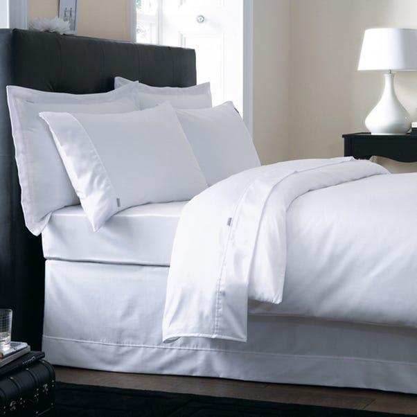 Dorma 500 Thread Count 100% Cotton Satin Plain White Duvet Cover  undefined