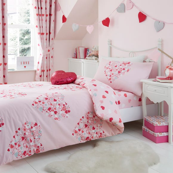 Loveable Hearts Duvet Cover and Pillowcase Set  undefined
