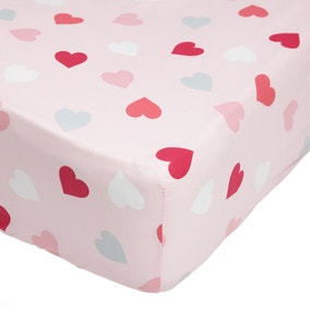 Loveable Hearts 25cm Fitted Sheet