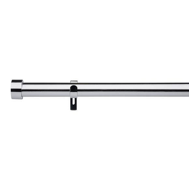 Trinity Fixed Chrome Eyelet Curtain Pole Dia. 29mm  undefined