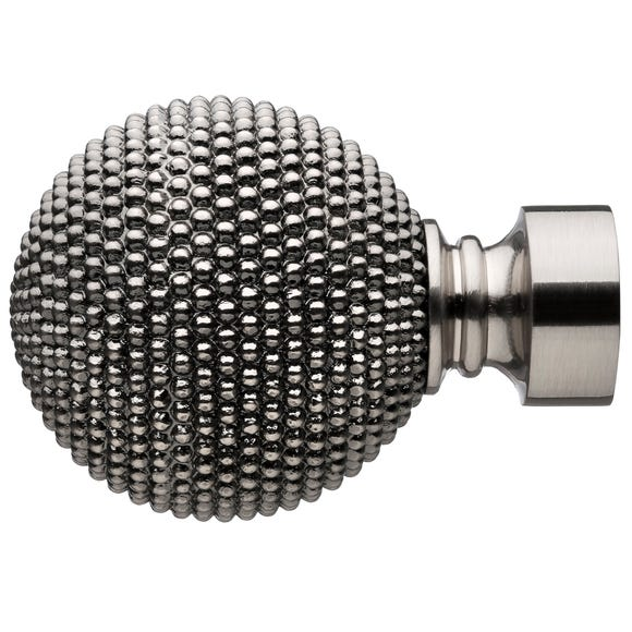 Mix and Match Studded Ball Finials Dia. 28mm Pewter (Grey)