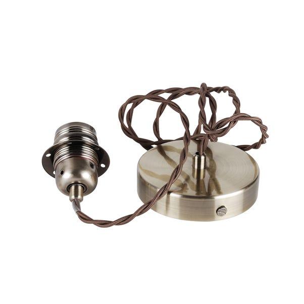 Charlie Antique Brass Twisted Flex Ceiling Fitting Antique (Brass)
