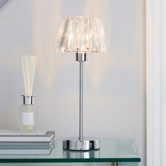Paloma Chrome Lamp Clear