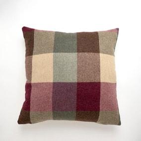Large Heritage Check Plum Cushion