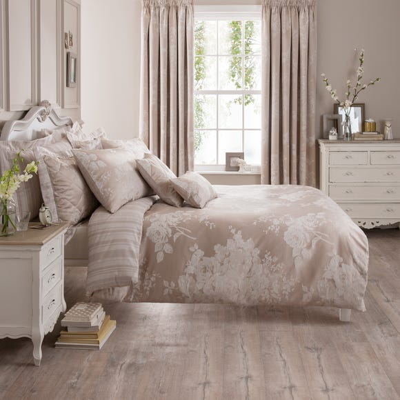 Laura Natural Jacquard Duvet Cover  undefined