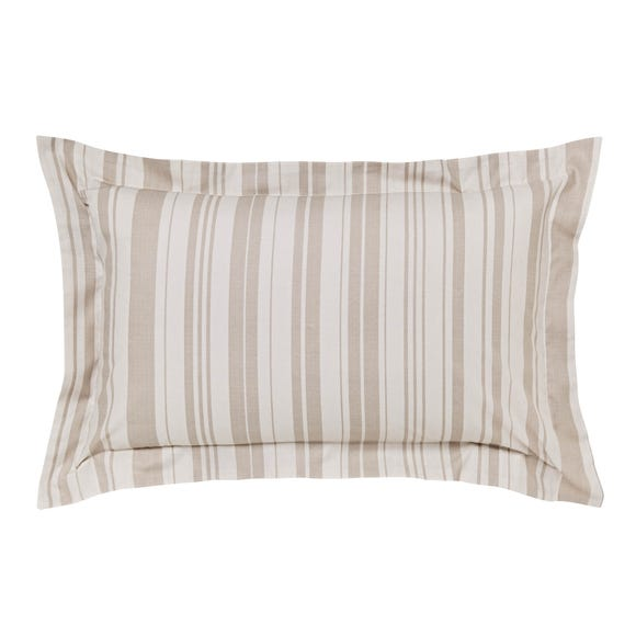 Laura Natural Jacquard Oxford Pillowcase Cream