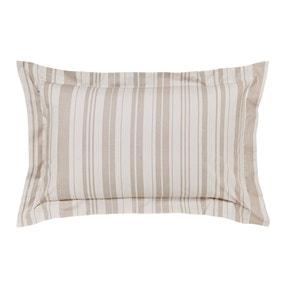Laura Natural Jacquard Oxford Pillowcase