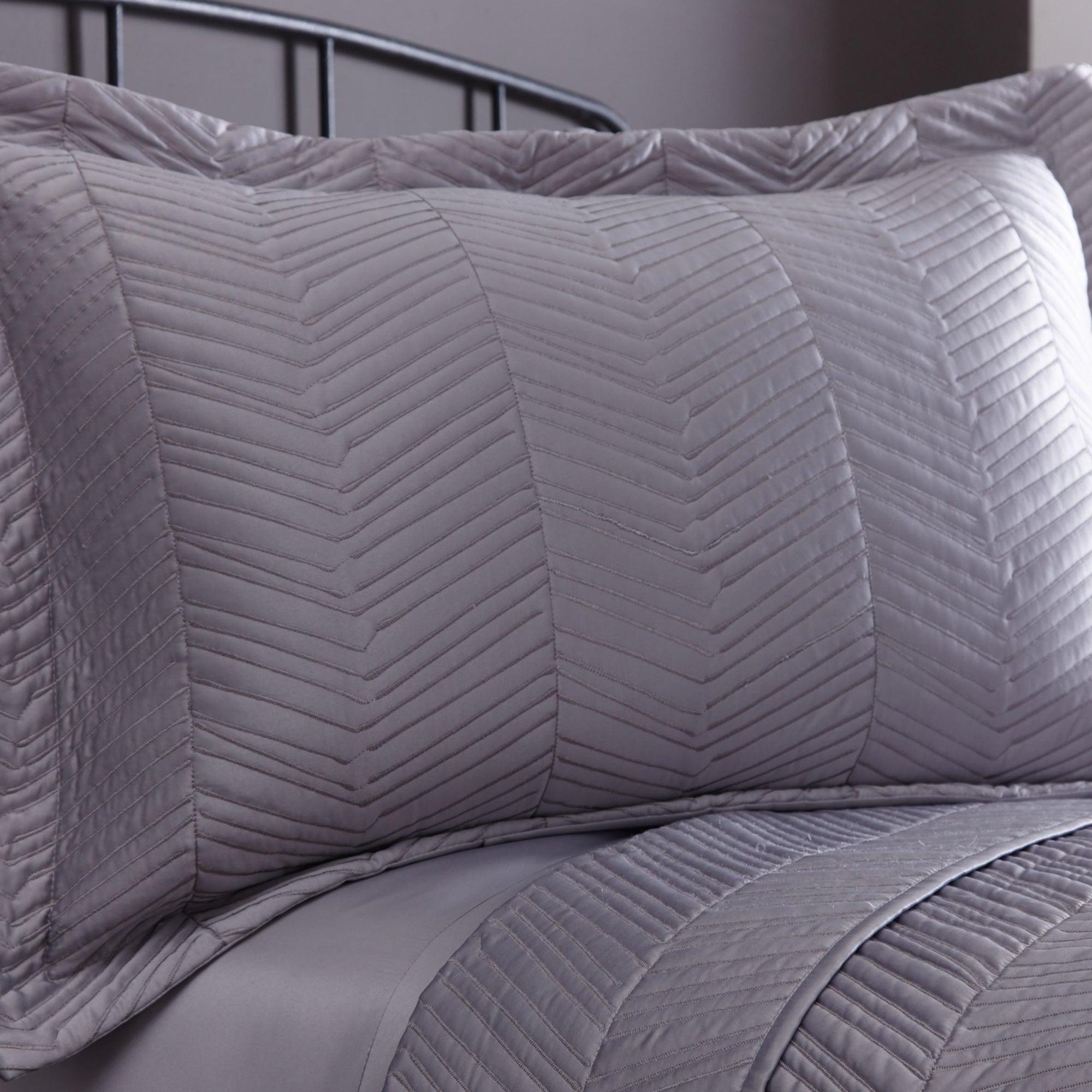 Dunelm Owen Grey Pillow Sham Grey |