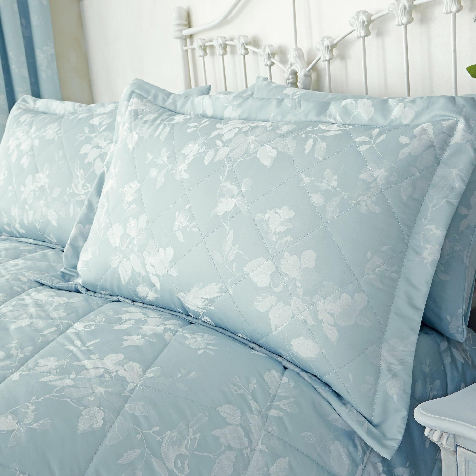Dunelm Eden Duck-Egg Pillow Sham Duck Egg Blue |
