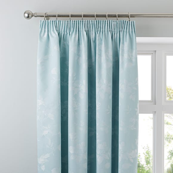 Eden Duck-Egg Thermal Pencil Pleat Curtains Duck Egg (Blue) undefined