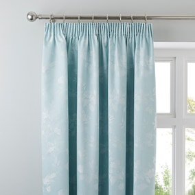 Eden Duck-Egg Thermal Pencil Pleat Curtains