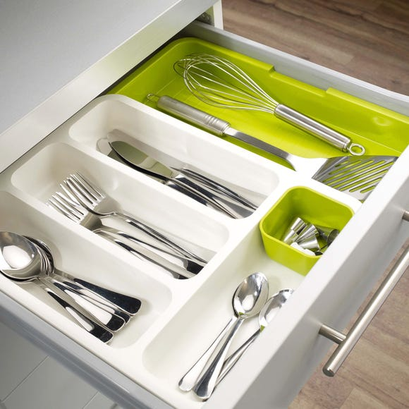 Joseph Joseph Drawer Store with Cutlery Tray Green