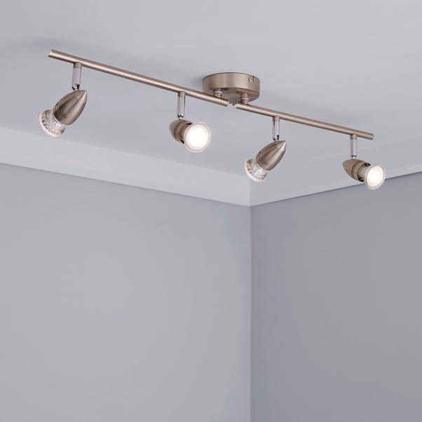 4 Light Satin Silver Spotlight Silver