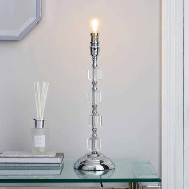 Aries Chrome Table Lamp Base Silver