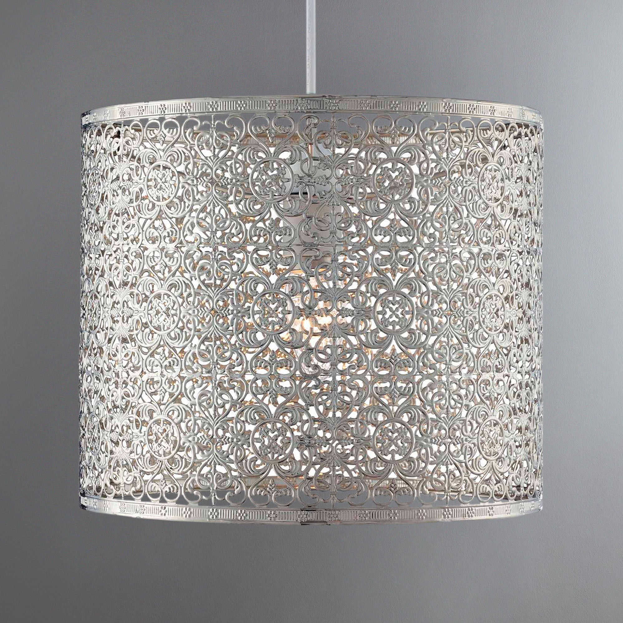 Click to view product details and reviews for Tunis Fretwork Chrome Easy Fit Pendant Chrome.