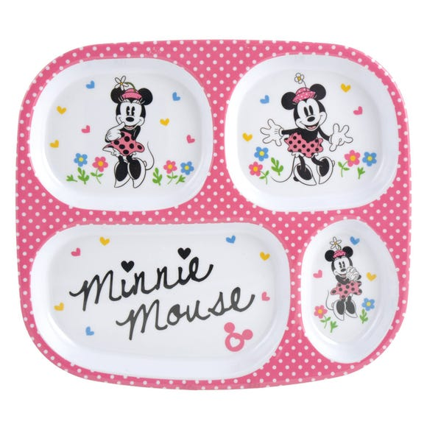 Disney Minnie Mouse Melamine Lunch Tray MultiColoured