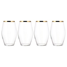 Gold Pack of 4 Highball Glasses
