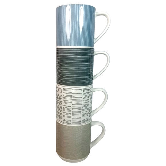 Simplicity Stacking Mugs MultiColoured