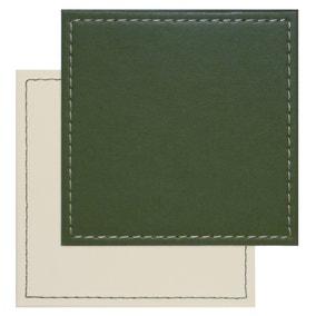 Set of 4 Green Reversible Coasters