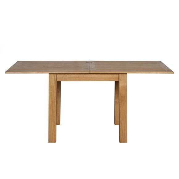 Sidmouth Oak Effect Top Dining Table Oak (Brown)
