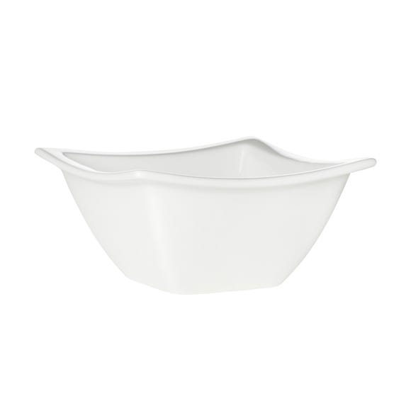 Purity Rimmed Square Dip Dish White