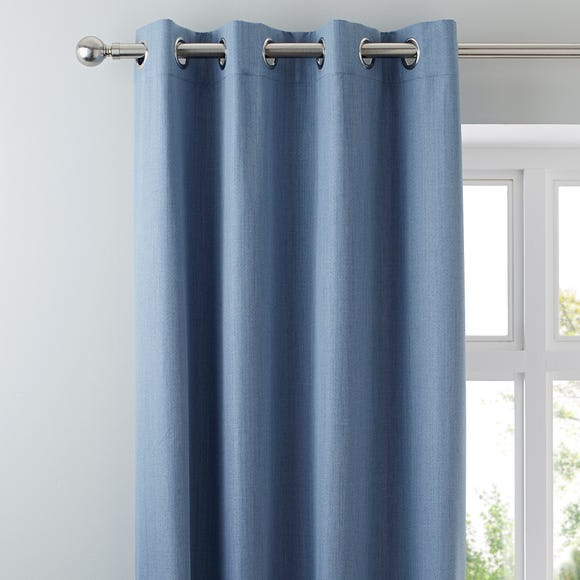 Solar Chambray Blackout Eyelet Curtains  undefined