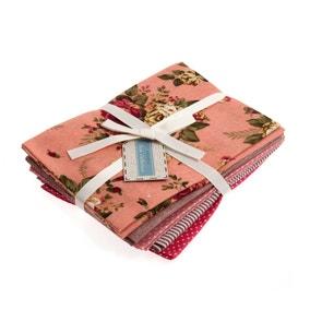 Rosy Cotton Linen Fat Quarters