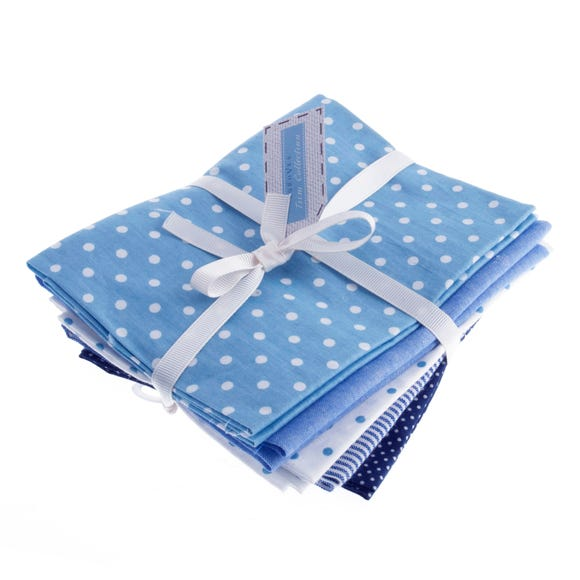 Blue Cotton Linen Fat Quarters