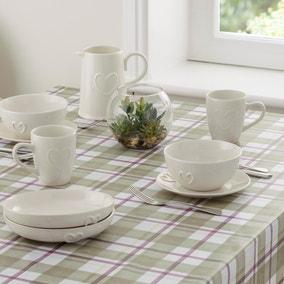 Green Check Misty Moors PVC Tablecloth