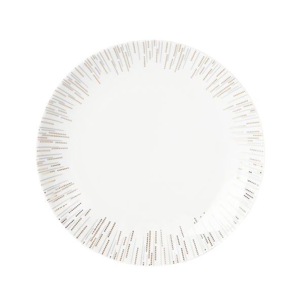 Glamour Dinner Plate White