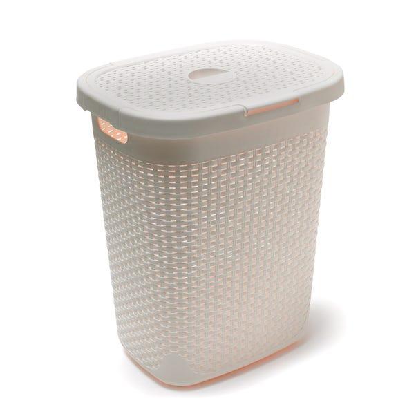 Addis 50L Natural Laundry Basket Linen (Natural)