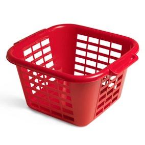 Addis Square Laundry Basket Red