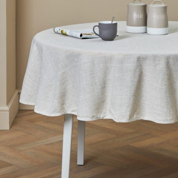 Polylinen Round Tablecloth Linen (Cream)